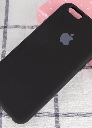 Черный силиконовый чехол с микрофиброй iphone 7 / 8 / se (2020)
