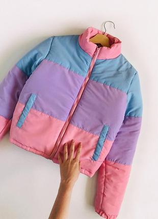 Обалденная зефирная куртка пуффер oversize lasula (пудровый дутик, еврозима)