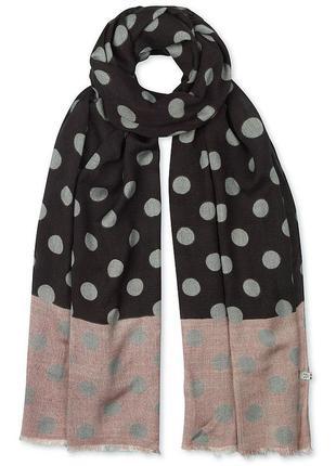 Симпатичный шарф crew clothing,шерсть+вискоза 185*80 см