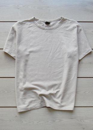 Акция! фактурная хлопковая футболка большой размер от h&m