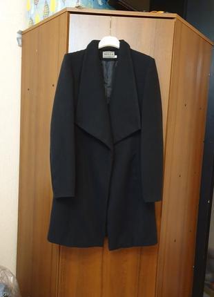 Пальто чёрное, демисезонное турецкий кашемир размер s, 36, 42