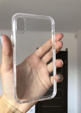 Прозрачный чехол на айфон x/xs
