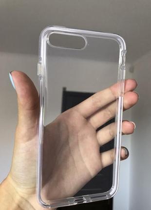 Прозрачный чехол на айфон 7+/8+