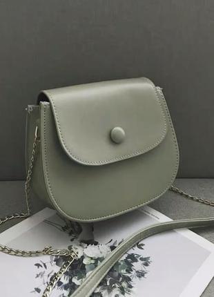 Оливковая сумочка