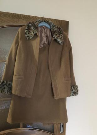 Тёплый осенний шерстяной костюм l/xl