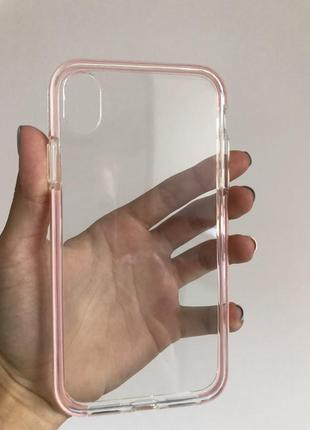 Прозрачный чехол на айфон xr