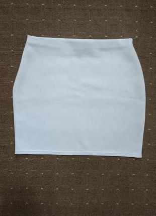 Белая мини юбка коктейльная нарядная missguided