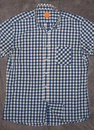 Рубашка мужская, летняя, фирменная hugo boss