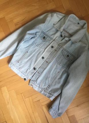 Свободная джинсовка джинсовая куртка