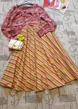 Стильная юбка миди, ladyhascot, размер 6-8