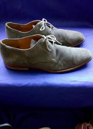 Туфли мужские натуральная замша кожа lloyd trend германия 46,5 размер