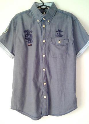 Брендовая качественная стильная рубашка с коротким рукавом