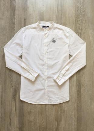 Удлиненная белая рубашка без горла sir sin top man