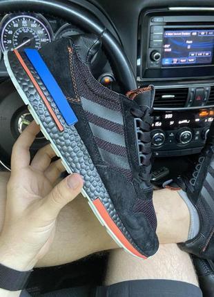Мужские кроссовки🔺 adidas zx x tfl 500 black and blue (hidoen london)🔺