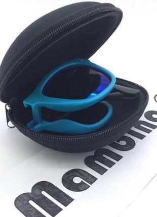 ☀ яркие раскладные очки в футляре (в стиле вайфарер от рэй бэн)