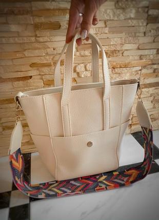Новая красивая стильная сумка экокожа / через плечо кроссбоди / шопер