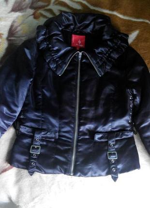 Демісесонна атласна куртка,46р.