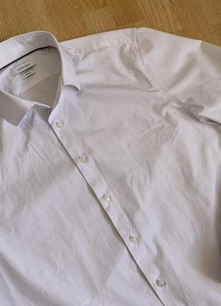 Calvin klein classic shirt классическая белоснежная рубашка