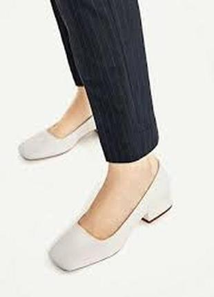 Замшевые туфли /мюли/квадратный носок zara