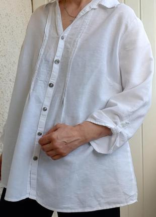 Натуральная рубашка батал
