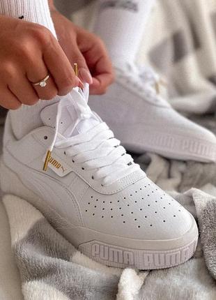 Puma cali white женские кроссовки кеды пума кали белые