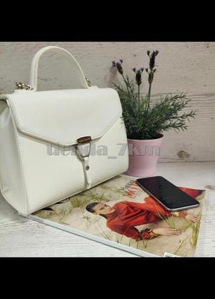 Клатч david jones cm5706t белая / стильная сумка через плечо /