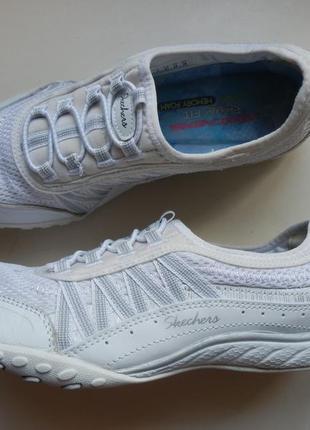 Кожаные туфли кроссовки skechers 37р 24см