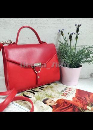 Клатч david jones cm5706t красная / стильная сумка через плечо /