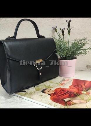 Клатч david jones cm5706t черная / стильная сумка через плечо /