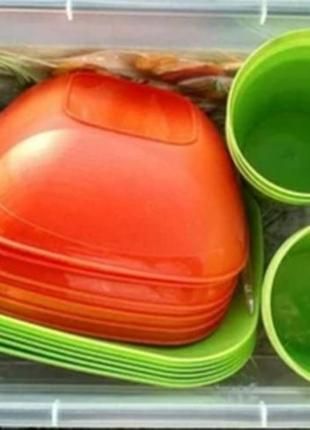 Набор посуды для пикника. 37 предметов.