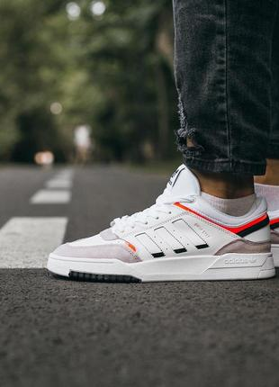 "Adidas adidas drop step ""white\grey\orange"" мужские кроссовки адидас белые 41-44"