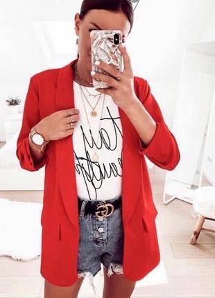 Жакет женский красный пиджак