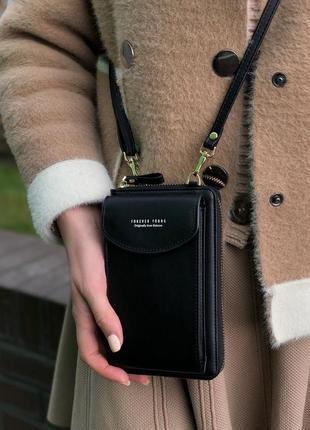 Сумка для baellerry forever young через плечо, сумка кошелёк dark black