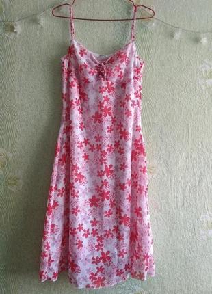 Новое лёгкое летнее шифоновое платье сарафан blue motion