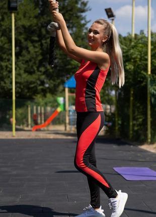 Спорт костюм женский цвет кораллово-черный