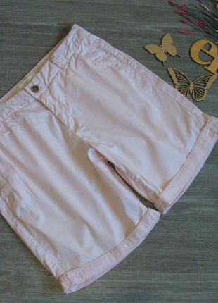 Нежно розовые шорты h&m коттон eur 38-40