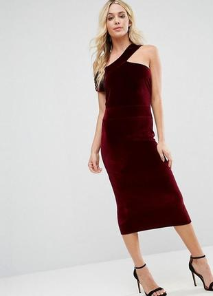 Шикарное вечернее миди платье по фигуре бархат велюр сукня в обтяжку