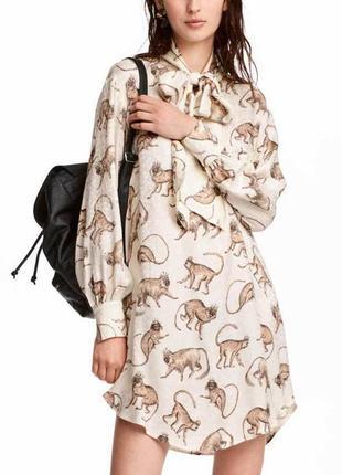 Оригинальное платье с набивным рисунком h&m