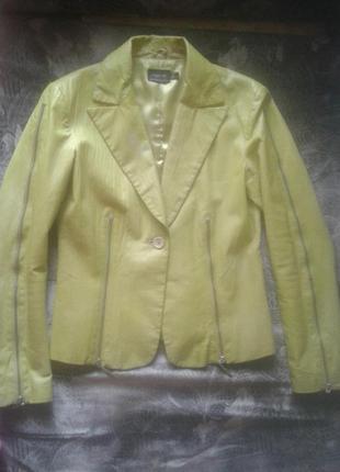 Пиджак кожаный sense