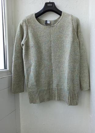 Класный удлиненный свитер джемпер