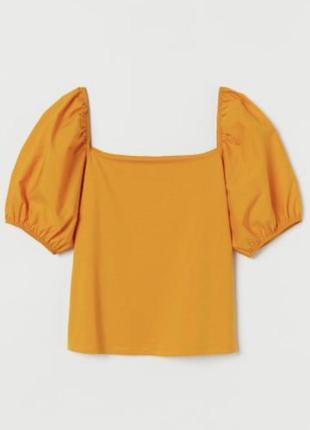 Новая футболка  с объемными рукавами