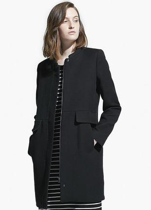 Новое пальто с шерстью mango