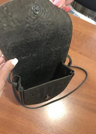 Кожанная сумочка ручной работы,новая