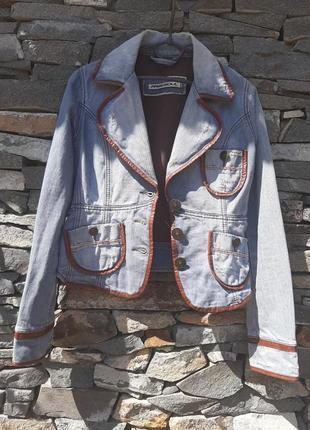 Стильный джинсовы пиджак куртка курточка