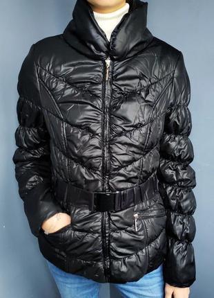 Черная куртка деми с интересным воротом от tally weijl