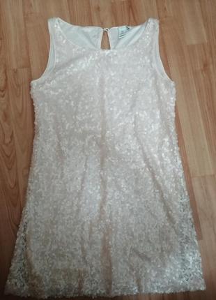Продам или обмен платье в паетку, блёстки