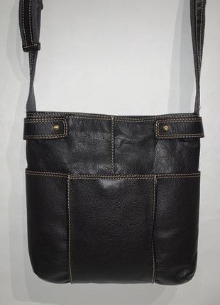 Мужская кожаная фирменная сумочка на/ через плечо debenhams