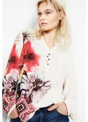 Потрясающая белая блузка рубашка desigual (zadig,marant,gucci,dries,max mara)
