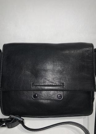 Кожаная фирменная актуальная сумочка на/ через плечо autograph. стиль кросс боди
