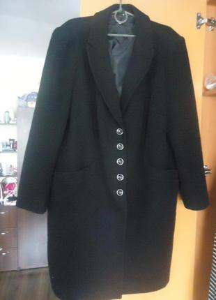 Фирменное, базовое, уютное пальто бойфренд, пальто-кокон шерсть/кашемир